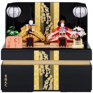 雛人形 吉徳大光 コンパクト収納飾り 親王飾り 収納タイプ ...