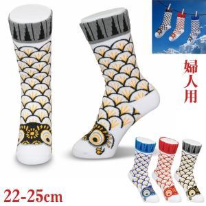 靴下になった鯉のぼり 婦人用靴下 koubou-tensho