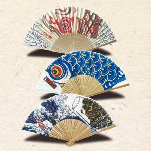 鯉のぼりプリント スタイリッシュ扇子 koubou-tensho