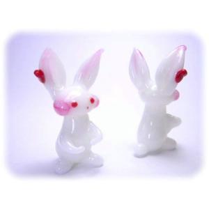 ガラス細工【リボンウサギ】|koubougiyaman2