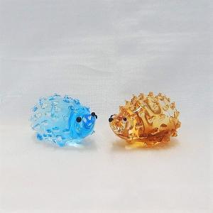 ガラス細工【ハリネズミ (大)】|koubougiyaman2