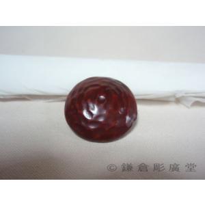 鎌倉彫 釦(ボタン) 山型に刀の目|koudou