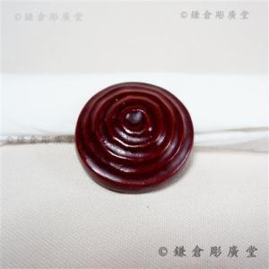 鎌倉彫 釦(ボタン) 山型に丸の刀目|koudou