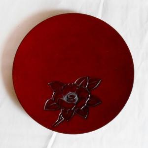 鎌倉彫 平皿 五寸五分 椿|koudou