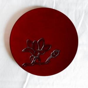 鎌倉彫 平皿 五寸五分 木蓮|koudou