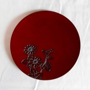 鎌倉彫 平皿 五寸五分 菊|koudou