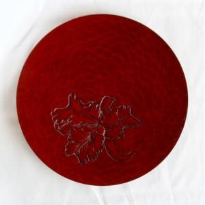 鎌倉彫 平皿 六寸 カトレア|koudou
