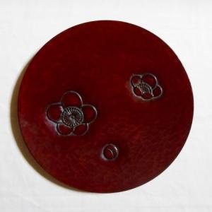 鎌倉彫 平皿 六寸 梅の散らし|koudou