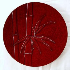 鎌倉彫 平皿 八寸 竹|koudou