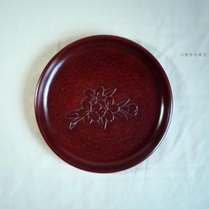 鎌倉彫 丸盆 七寸 桜 koudou