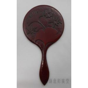鎌倉彫 手鏡 五寸 いちょう|koudou