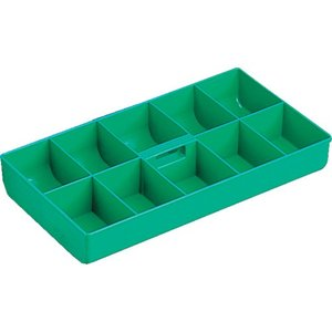特長 パーツボックス用の中皿です。  仕様・規格  色:グリーン 外寸(mm)間口:356 外寸(m...