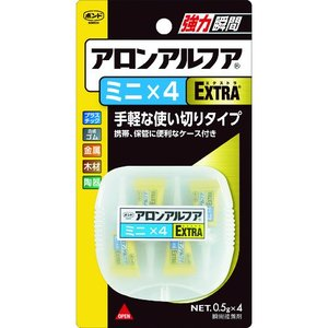 コニシ アロンアルファEXTRAミニ4 (0.5g 4本) #04611  NO.04611   2...