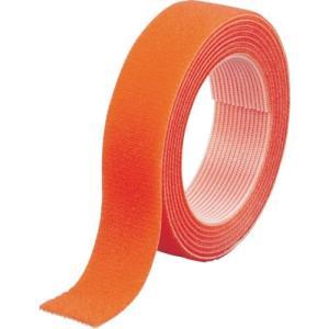 TRUSCO マジックバンド結束テープ 両面 20x1.5m オレンジ MKT2015OR