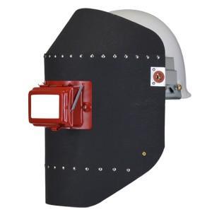 保安帽に受金具を固定して、溶接面の金具部分を差し込んで装着させて使用する。 開閉窓タイプ ファイバー...