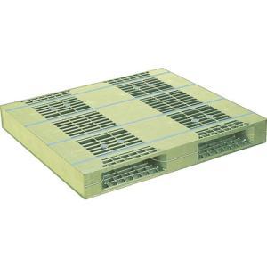 NPC プラスチックパレットZR-110120E 両面二方差し ライトグリーン  ZR-110120...