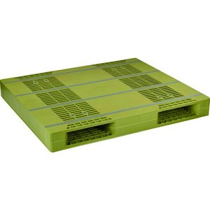 NPC プラスチックパレットZR-110130E 両面ニ方差し ライトグリーン  ZR-110130...