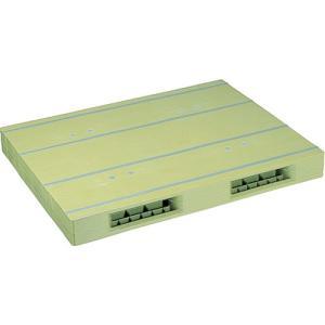 NPC プラスチックパレットZR-1111E 両面二方差し ライトグリーン  ZR-1111E-LG
