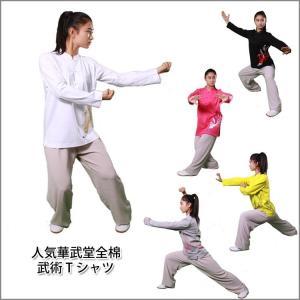 (太極拳)カッコイイ中国武術デザインTシャツ!練習には武術らしい動きやすいTシャツが一番! 人気華武堂全綿武術Tシャツ|kougabunkaten