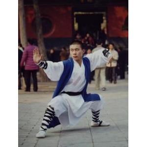 少林拳 / 少林拳服 / 刺繍服 / カンフー服 / 武術服 / 演舞服 / 武術 / カンフー / 気功 白色三件套僧服|kougabunkaten