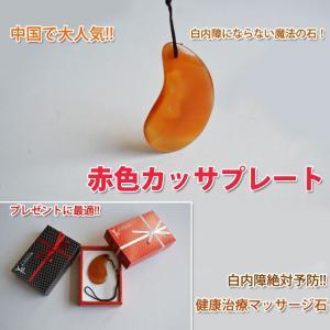 パワーストーン / 天然石 / マッサージプレート / 美容健康 / かっさ板 / 赤色カッサプレート小 活沙 鍼石(へんせき)|kougabunkaten