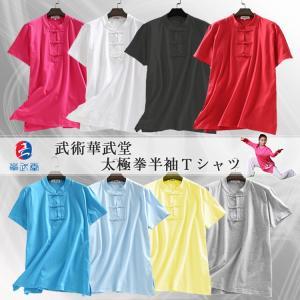 【レターパック360対応!】【太極拳】カッコイイ中国武術デザインTシャツ!武術華武堂 太極拳半袖Tシャツ