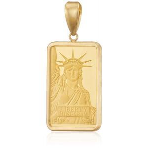 新品 送料無料 K24 K18 YG リバティー ペンダント トップ 2g コイン ゴールド 金 金貨 純金 メンズ レディース ユニセックス|kougasyou