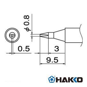 白光 T12-D08 こて先/0.8D型