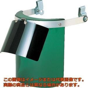 TRUSCO ヘルメット取付型防災面 グリーン ダブル型 BMHW