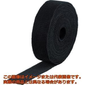TRUSCO マジックバンド結束テープ 両面 幅40mmX長さ5m 黒 MKT4050BK