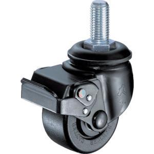 ハンマー 低床式重荷重用ねじ式SP付ナイロン車B入り65mmM20XP2.5 (1個) 品番:545SA-NRB65-BAR01|kouguland