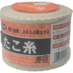 ユタカ 荷造り紐 たこ糸 1.5φ×190m (1巻) 品番:A-301|kouguland