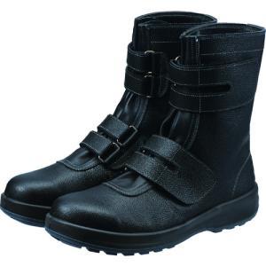 シモン 安全靴 長編上靴マジック式 SS38黒 26.0cm (1足) 品番:SS38-26.0