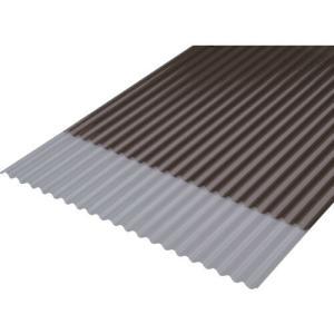 IRIS 軽量ポリカ波板 6尺 ブロンズ (1枚) 品番:NIPC-605-BZ|kouguland