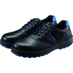 シモン 安全靴 短靴 SL11−BL黒/ブルー 23.5cm (1足) 品番:SL11BL-23.5