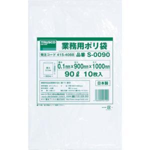 トラスコ 業務用ポリ袋0.1×90L 10枚入 (1袋) 品番:S-0090|kouguland