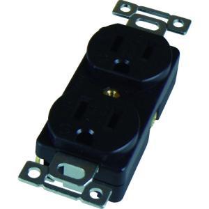 アメリカン電機 平刃形 複式埋込コンセント 接地2P15A125V (1個) 品番:7110GD