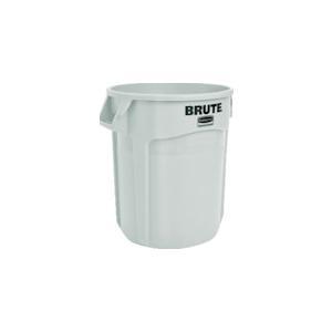 ラバーメイド ラウンドブルートコンテナ スリット付き 75.7L ホワイト (1個) 品番:262001|kouguland