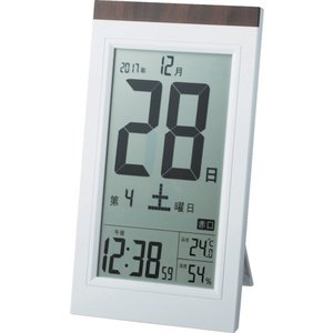 ADESSO デジタル日めくり電波時計 (1個...の関連商品4