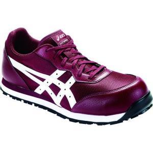 アシックス(ASICS)  安全靴(作業用靴)ウインジョブ FCP201.600 チリフレーク×ホワイト|kouguman