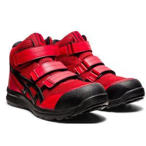 アシックス(ASICS)  安全靴 ウインジョブ CP203 FCP203.601 クラシックレッド×ブラック FCP203|kouguman