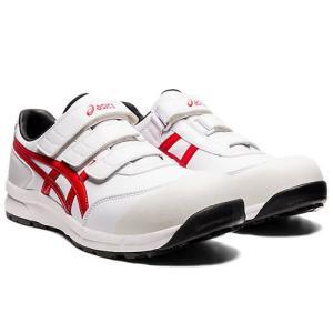 アシックス(ASICS)  安全靴 ウインジョブ CP301 FCP301.102 ホワイト×クラシックレッド FCP301|kouguman