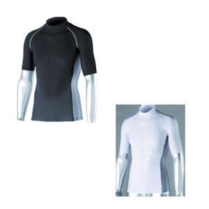 おたふく手袋 接触冷感シャツ 冷感・消臭 パワーストレッチ 半袖ハイネックシャツ JW−624 イン...