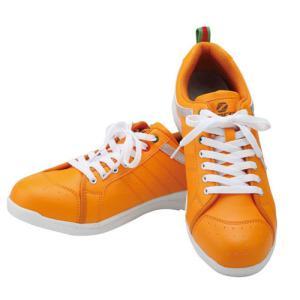 セーフティーシューズ/安全靴  Z-ZERO WORKS HOMME SZ-013 オレンジ kouguman