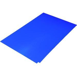 TRUSCO 粘着クリーンマット 450×900MM ブルー 1シート 30枚入 CM4590-1B kougurakuichi
