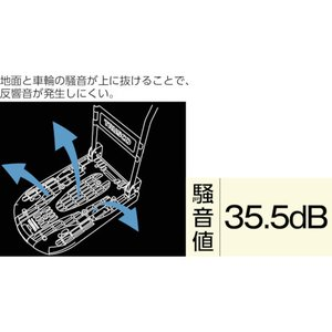 TRUSCO 樹脂台車 カルティオ 折畳 780X490 黒 MPK-720-BK _ `|kougurakuichi|09