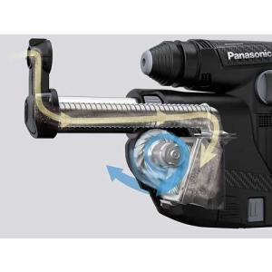パナソニック 充電ハンマードリル 集塵ありセット【3.4Ah電池パック2個・充電器・ケース付き】EZ7881PC2V-R レッド|kouguya|02