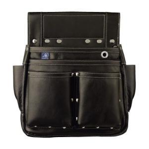 史上最高の逸品!ふくろ倶楽部 朱雀 六型 黒 SZ-886K 釘袋 腰袋|kouguya