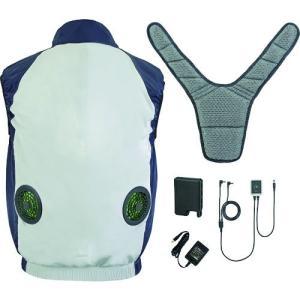 タジマ 清涼ファン 風雅ベスト フルセット Lサイズ FV-AA18SEBWL 熱中症対策品|kouguya