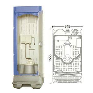 【ポイント15倍】 【直送品】 ハマネツ 仮設トイレ (簡易水洗) TU-iXF (1523100) 《兼用和式タイプ》 【大型】|kouguyasan